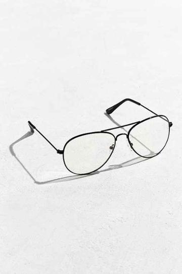 Urban Outfitters Aviator Readers,black,one Size
