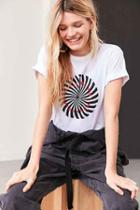 Urban Outfitters Spiral Text Tee,white,l