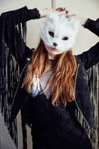 Urban Outfitters Cat Mask,white,one Size