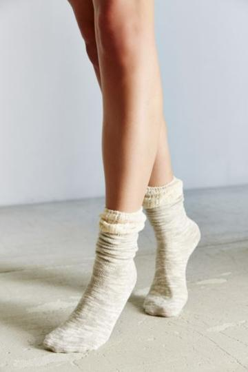 Urban Outfitters Crochet Cuff Slouchy Sock