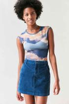 Urban Outfitters Bdg Sybale Corduroy Mini Skirt,blue,4