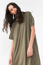 Urban Outfitters Silence + Noise Boxy Tee Dress,green,l