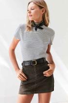 Urban Outfitters Bdg Sybale Corduroy Mini Skirt,dark Green,2