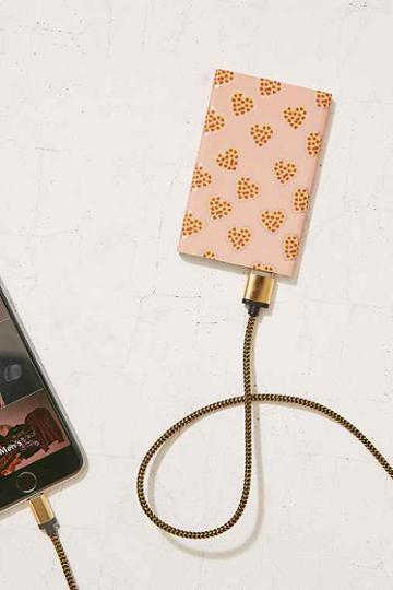 Urban Outfitters Slim Pizza Portable Power Charger,pink,one Size