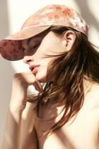 Urban Outfitters Floral Satin Baseball Hat