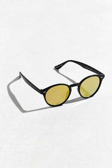 Urban Outfitters Flat Plastic Round Sunglasses,black,one Size