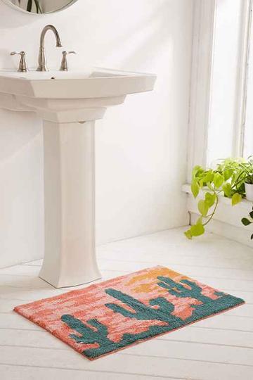Urban Outfitters Desert Sunset Bath Mat,orange,one Size