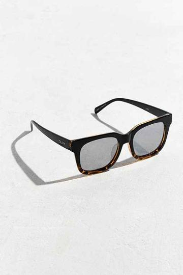 Urban Outfitters Quay Libre Pattern Sunglasses,black Multi,one Size