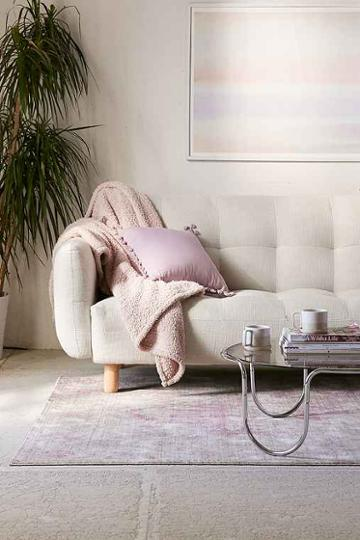 Urban Outfitters Winslow Sleeper Sofa,cream,one Size