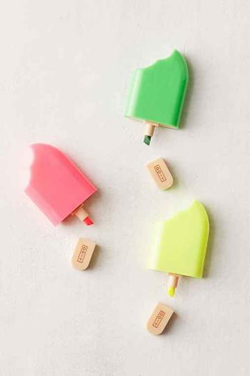 Urban Outfitters Popsicle Mini Highlighter Marker Set,multi,one Size