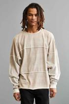 Urban Outfitters Uo Shredder Long Sleeve Tee,light Brown,m
