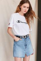 Urban Outfitters Urban Renewal Remade Notched Denim Mini Skirt