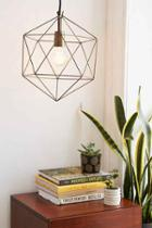 Urban Outfitters Magical Thinking Geo Pendant Light,copper,one Size