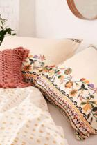 Urban Outfitters Yulia Floral Sham Set,cream,one Size