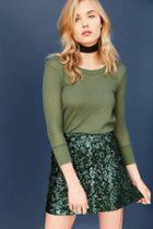 Urban Outfitters Project Social T Ivy Thermal Tee,green,m