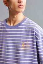 Urban Outfitters Uo Embroidered Stripe Dad Tee