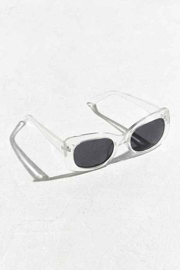 Urban Outfitters Chunky Square Sunglasses,clear,one Size