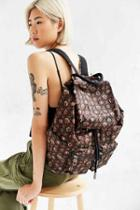 Urban Outfitters Canvas Army Backpack,black,one Size