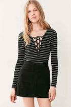 Urban Outfitters Bdg Twill Utility Mini Skirt,black,l