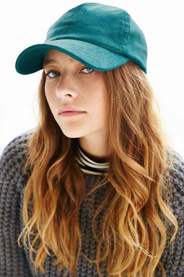 corduroy Baseball Hat,dark Green,one Size