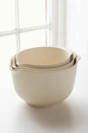 Urban Outfitters Bamboozle Mixing Bowl Set,cream,one Size