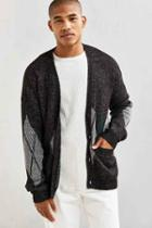 Urban Outfitters Uo Grandpa Textured Cardigan,charcoal,xl