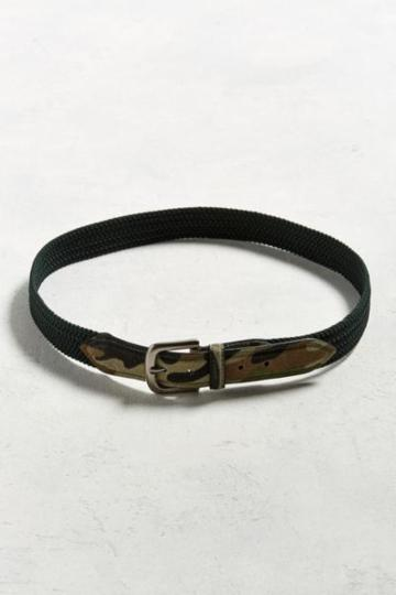 Urban Outfitters Uo Stretch Cord Camo Belt