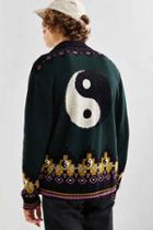 Urban Outfitters Uo Patterned Shawl Cardigan,dark Green,m