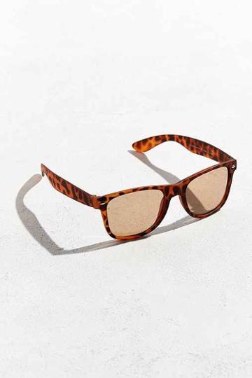 Urban Outfitters Squared Matte Sunglasses,brown,one Size