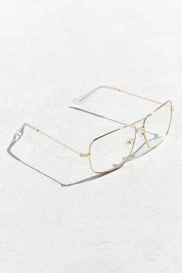 Urban Outfitters Roial Piloto Readers,gold,one Size