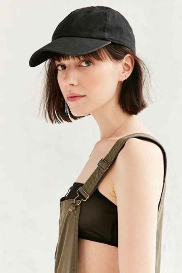 Urban Outfitters Bdg Washed Canvas Baseball Hat,black,one Size