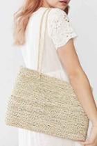 Urban Outfitters Patsy Straw Tote Bag,brown,one Size