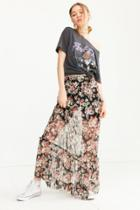 Urban Outfitters Ecote Mesh Ruffle Maxi Skirt