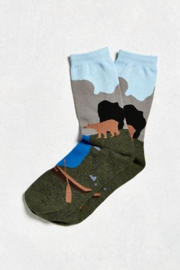Urban Outfitters River Scene Sock