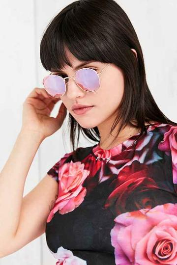Urban Outfitters Round Metal Sunglasses,purple,one Size