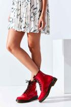 Urban Outfitters Dr. Martens 1460 Patent Leather Boot,red,9
