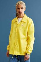 Urban Outfitters Champion Coach Jacket,yellow,m