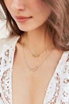 Urban Outfitters Evening Sun Layering Necklace Set,gold,one Size