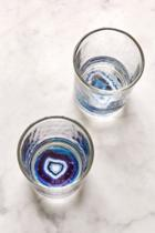 Urban Outfitters Geode Bottom Glasses Set
