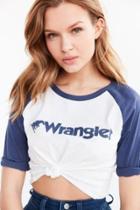 Wrangler Logo Baseball Tee