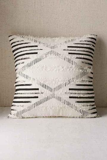 Urban Outfitters Printed Eyelash Pillow,black & White,20x20