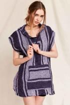 Urban Outfitters Urban Renewal Recycled Woven Sleeveless Hooded Top,purple,m/l