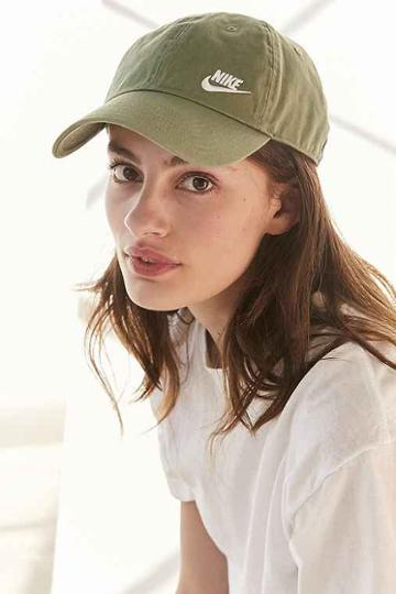 Urban Outfitters Nike Twill H86 Baseball Hat,olive,one Size