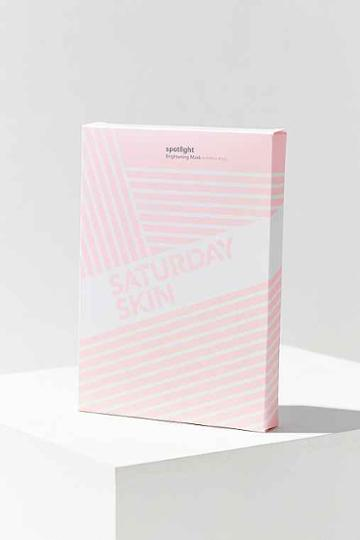 Urban Outfitters Saturday Skin Sheet Mask 5 Pack,spotlight Brighten,one Size