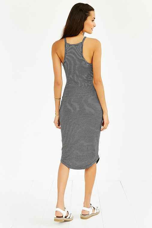 silence + Noise High-neck Knit Midi Dress,black & White,l