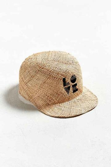 Urban Outfitters Sublime Straw Love Baseball Hat,tan,one Size