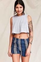 Urban Outfitters Urban Renewal Recycled Woven Short,blue,m/l