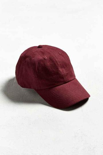 Urban Outfitters Uo Curved Brim Baseball Hat,maroon,one Size