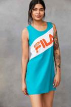 Urban Outfitters Fila + Uo Alissa Color Block Dress,green,m