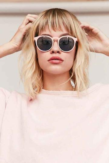 Urban Outfitters Every Day Round Sunglasses,blush,one Size